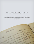 I must and will survive: the Civil War-era diary of Virginia Daniel Woodroof, Class of 1866 by Beth S. Harris