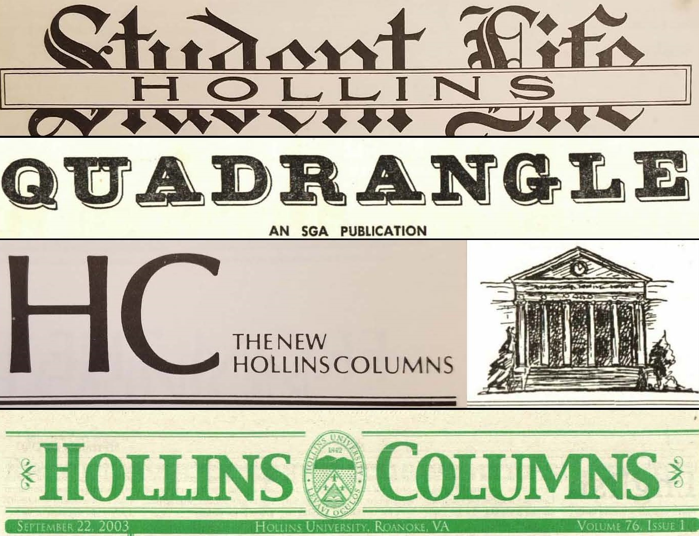 Hollins Student Newspapers