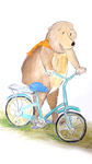"""Illustration from """"Bear and Beavers Bike Ride"""" by Deanne Sander"""