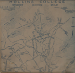 Hollins College Student Hiking Map by C. B. Malcolm