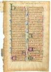 Breviary [Manuscript leaf, HU 3]