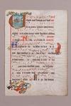 Antiphonal [Manuscript Leaf, HU 1]